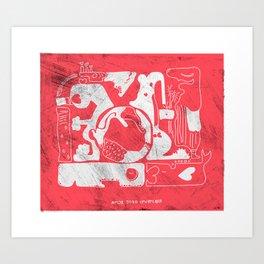 amor todo invencible Art Print
