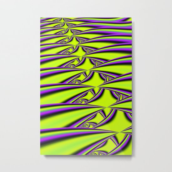 Lime n Purple Metal Print