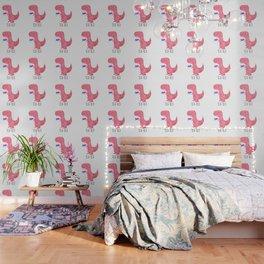 Tea-Rex | Pink Wallpaper