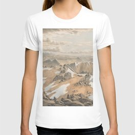 North east view from the top of Mt Kosciusko by Eu von Guerard Date 1866  Romanticism  Landscape T-shirt
