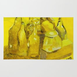 Still Life Study in Yellow Rug
