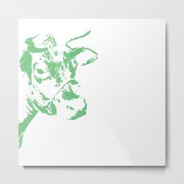 Follow the Herd - Green #778 Metal Print