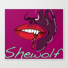 Shewolf Canvas Print