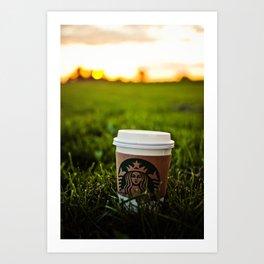 Starbucks Coffee Pumpkin Spice Latte  Art Print