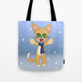 Happy Cat Winter style Tote Bag