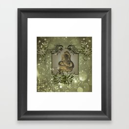 Indian elephant Framed Art Print