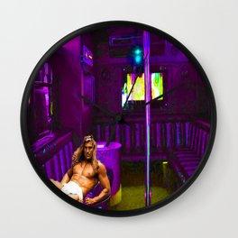 Fabio's Night Off Wall Clock