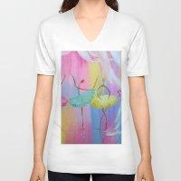 ballerina V-neck T-shirts featuring ballerina by OLHADARCHUK