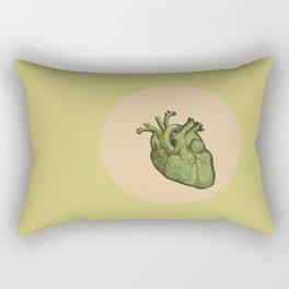 Green heart Rectangular Pillow