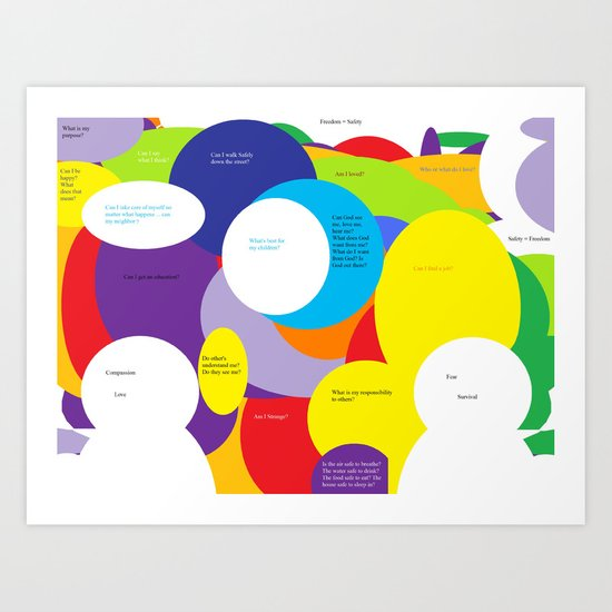 Through What Lens Do You See the World? Art Print
