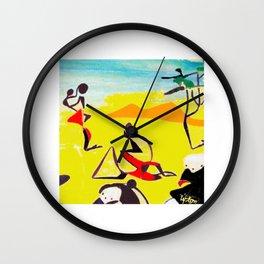 Lipton in East Africa          by Kay Lipton Wall Clock