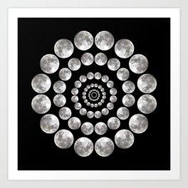 Moon Mandala Art Print