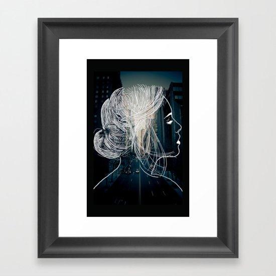 The woman who never sleep Framed Art Print