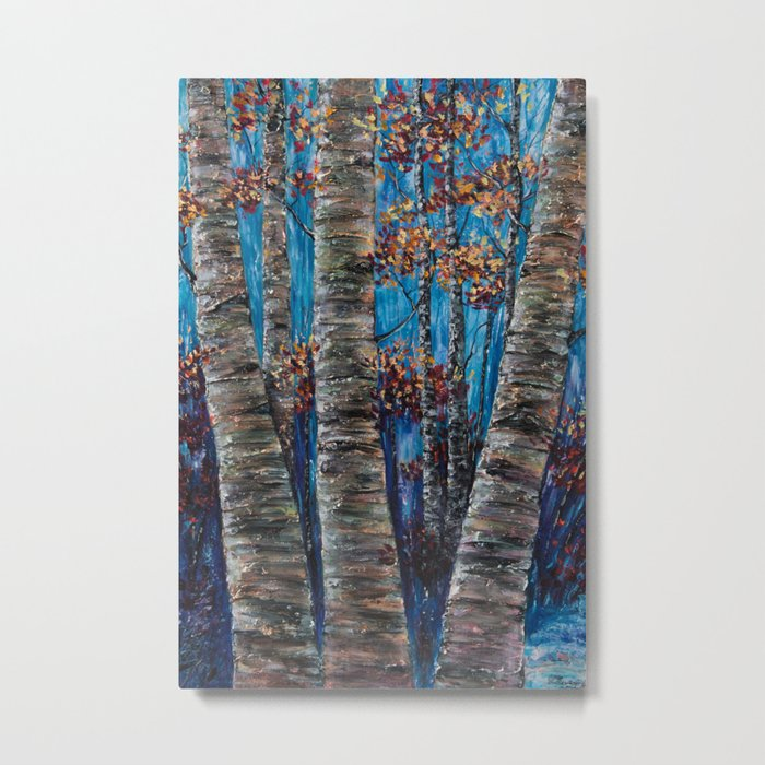 Aspen Forest In The Rocky Mountain Metal Print