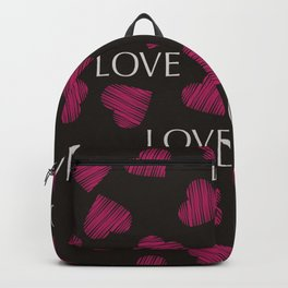 hearts pattern retro texture Backpack