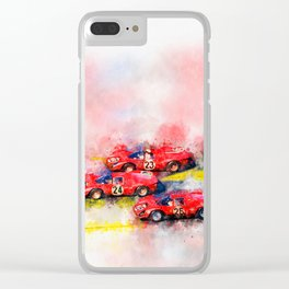 Victory Formation Daytona 1967 Clear iPhone Case