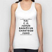 """exo Tank Tops featuring EXO K- Hangeul: """"Love City"""" Inspired by 00yu"""
