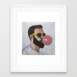 Been caught stealing Framed Art Print