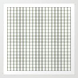 Desert Sage Grey Green and White Gingham Check Kunstdrucke