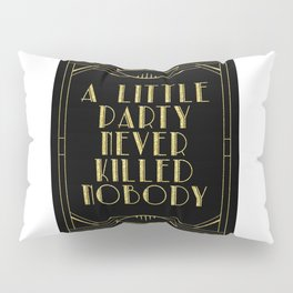 A little party - black glitz Pillow Sham