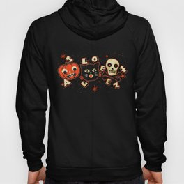 Halloween Faces pumpkin cat skull (vintage) Hoody