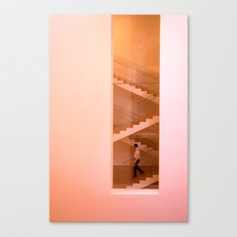 Day at the museum - stairs Canvas Print