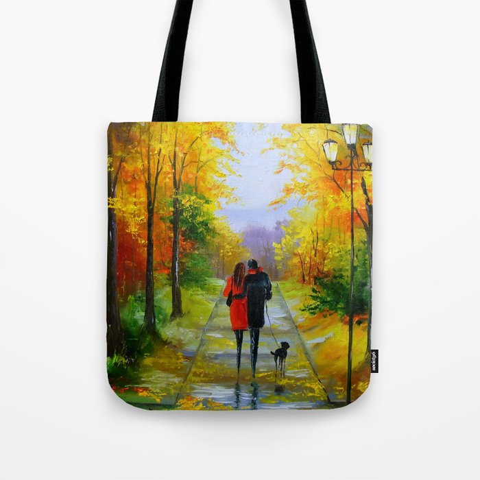 Walk in the early autumn Tote Bag