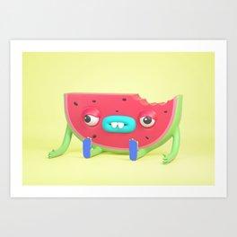 Watermelon dude Art Print