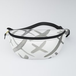 Watercolor X's - Grey Gray Fanny Pack