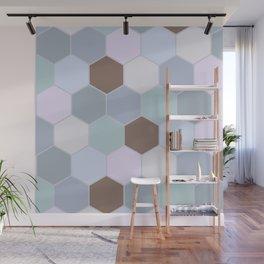 Violet pastel shades hive Wall Mural
