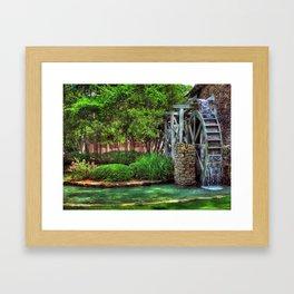 Water Wheel Framed Art Print