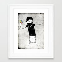 banksy Framed Art Prints featuring Banksy by Super Lombrices