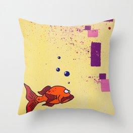Lil' Orangy Throw Pillow