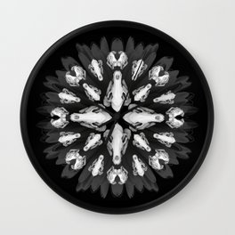 Mandala Macabre Wall Clock