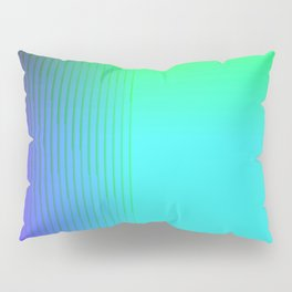 Cyan Green Purple Red Blue Black ombre rows and column texture Pillow Sham