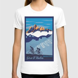 Giro d'Italia Passo Dello Stelvio cycling poster T-shirt