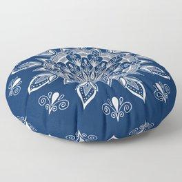 RB Mandala Design with botanical elements Floor Pillow