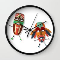 africa Wall Clocks featuring AFRICA by Rceeh