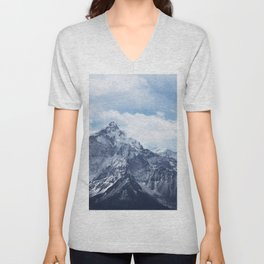 Snowy Mountain Peaks Unisex V-Neck
