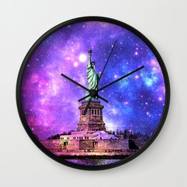 space Statue of Liberty Wall Clock