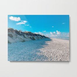 White Sand Florida Beach Metal Print
