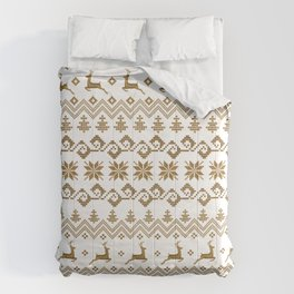 Christmas retro pattern with reindeers Comforters