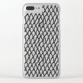 Fishing Net Black on Blush Clear iPhone Case