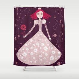 queen claret-pink Shower Curtain