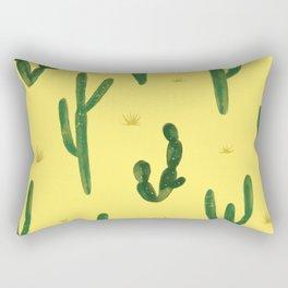 Desert Vibes Yellow Rectangular Pillow