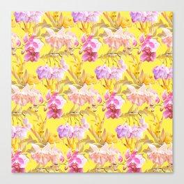 Tropical Bahamas Yellow Canvas Print