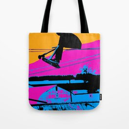 Tail Grabbing High Flying Scooter Tote Bag