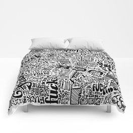 LOOK AT ALL THE FUCKS YOU DO NOT GIVE Comforters