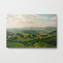 Valley Tilt Shift Metal Print