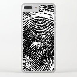 Thumbprint Clear iPhone Case